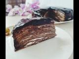 Блинный шоколадный торт.