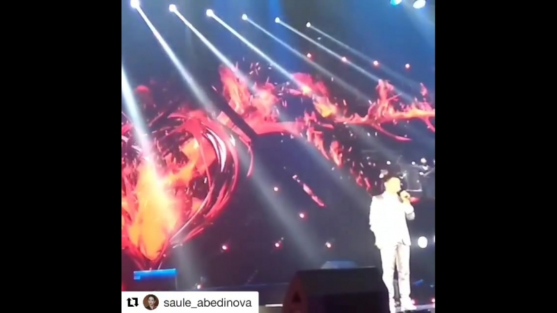 @saule_abedinova (Repost) Биылғы көктем мерекесіне мен алған ең үлкен сыйлық - Сәкен Майғазиевтің тұңғыш жеке концертіне шақыруы