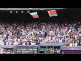 Флаг США рухнул под гимн России !