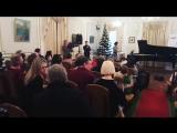 Вера Брежнева и Константин Меладзе на отчётном концерте дочери Сары в Музыкальной Академии «DoMiArt» (23.12.17 г.)