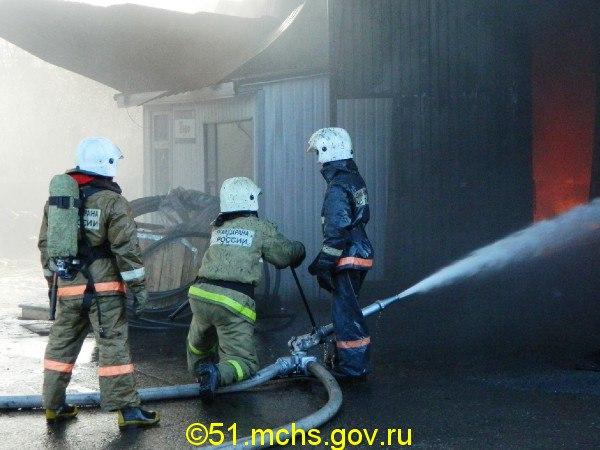 В Кольском районе за сутки сгорели две бани