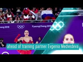 Rivals and friends. Gold medallist Alina Zagitova hopes her winning performance won't put a friends