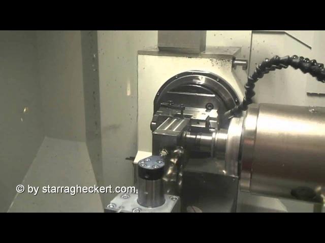 Turbine blade machining on Starrag 5 axis machiningcenter LX 051