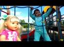 Кукла Беби Бон и Нелли на детской площадке Baby born at playground for kids and Songs for babies