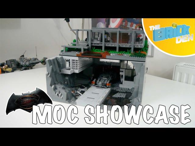Lego BATMAN V SUPERMAN BATCAVE and BRUCE WAYNE'S RESIDENCE- MOC Showcase