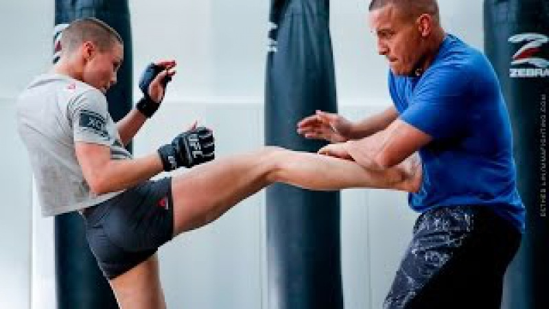 Rose Namajunas Open Workout With Pat Barry MMA Fighting