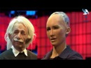 AI Robots Einstein and Sophia Conversation