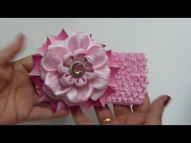 How to Make Flowers from Liston Como hacer Flor de Liston para el cabello