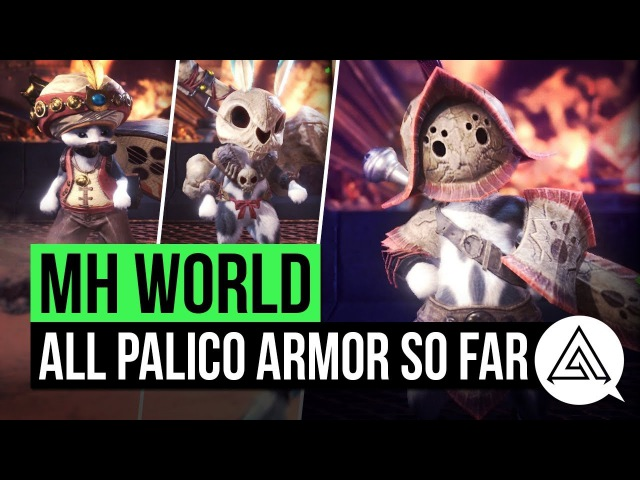 Monster Hunter World | All Palico Armour Sets So Far