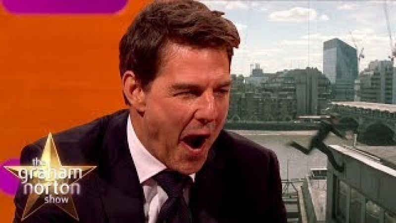 Tom Cruise Reacts to Slow Mo Footage of How He Broke His Ankle The Graham Norton Show topnotchenglish