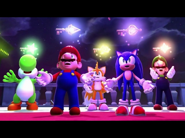 Mario Sonic at the Sochi 2014 Olympic Winter Games Legends Showdown Complete Playthrough