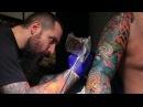 Японская татуировка в Москве Процесс нанесения тату Рукав Мастер Иван Хоттаб