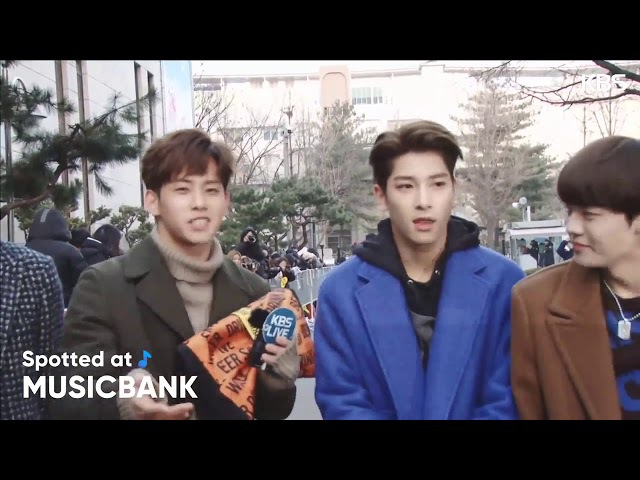 180119 Spotted at Musicbank | The Unit - All day team cut. Hangyul show abs...sbd please stop him.