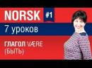 Урок 1. Норвежский язык за 7 уроков для начинающих. Глагол være (быть). Елена Шипилова.