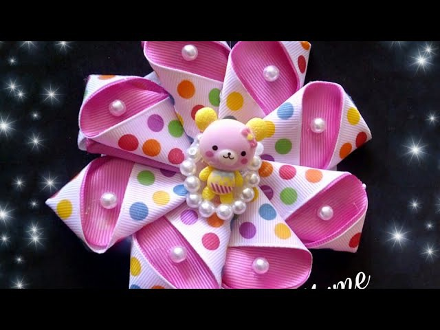 MOÑO REHILETE PASO A PASO/ HOW TO MAKE A BOW/ TIARA/ VINCHA/ CINTILLO/ BALACA