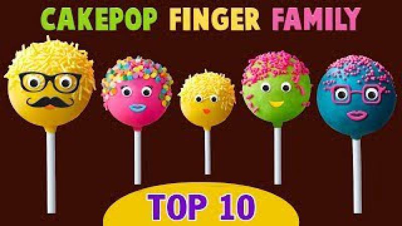 Cake Pop Finger Family Collection - Top 10 Finger Family Collection - Finger Family Songs