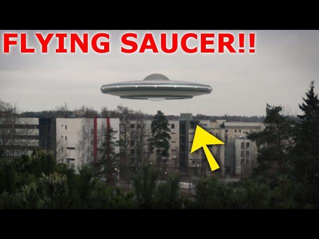 UFO ALIEN SPACECRAFT APPEARS OUT OF NOWHERE 16th January 2018