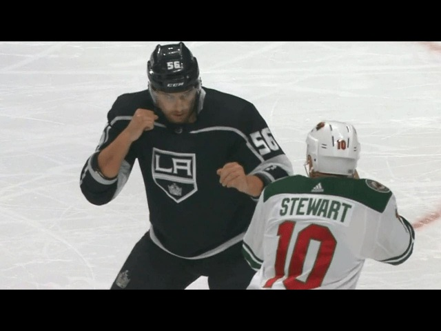 MacDermid and Stewart settle their differences with a heavyweight tilt