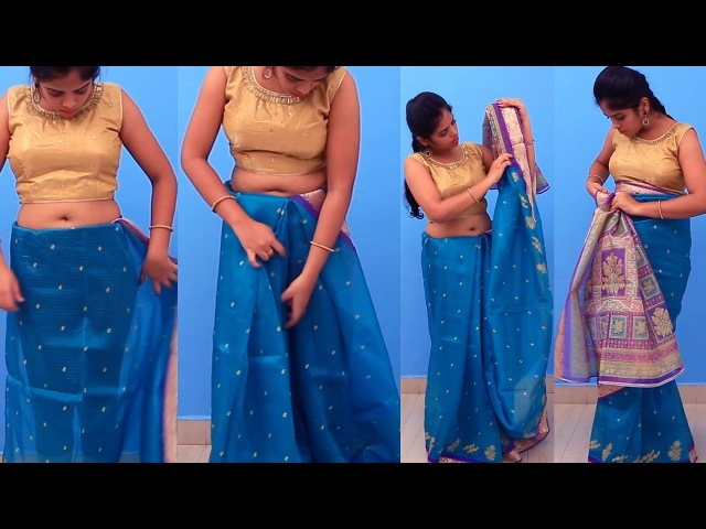 Saree Draping Video Tutorial New Look Saree Wearing Step By Step