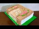 Кремовый торт КНИГА МК Как сделать торт в виде книги Cream cake BOOK MK