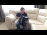 Счастливчик играет на четырехголосной гармони Ля мажор