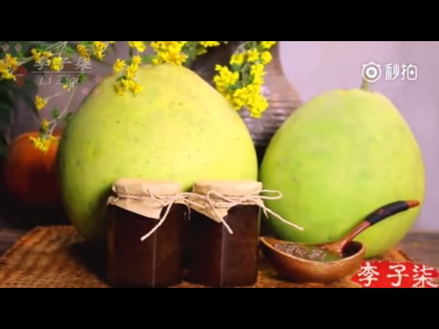 How to make Honey Pomelo Tea (Engsub) | Li Ziqi 李子柒