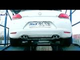 NeX® VW Scirocco. ЭКСКЛЮЗИВ! Игрек раздвоенный с 4-мя насадками Ø 76 мм. Городской монстр
