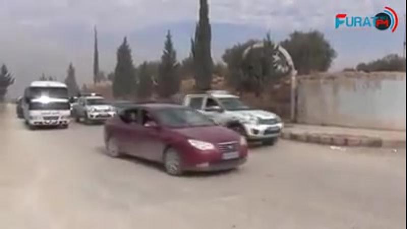Большой конвой курдов из Манбиджа выдвинулся на помощь в Африн.