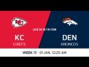 NFL 2017-2018 / Week 17 / Kansas City Chiefs - Denver Broncos / CG / EN