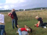 Girl gang rumble catfight