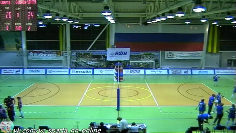 «Спарта» (Нижний Новгород) - «Самрау-УГНТУ» (Уфа) 27.01.2018 сб. звук с 630 появится