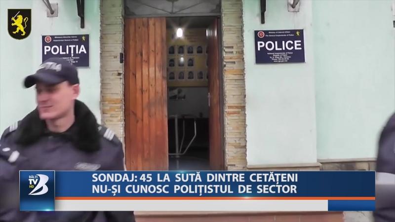 SONDAJ: 45 LA SUTĂ DINTRE CETĂȚENI NU-ȘI CUNOSC POLIȚISTUL DE SECTOR