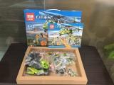 Конструктор Lepin 02004 - аналог Lego 60123 City Грузовой вертолет
