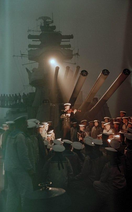 """На борту крейсера """"Калинин"""", 1955 год."""
