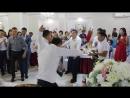 Супер калмыцкий танец на свадьбе. Музыкальный подарок молодым в исполнении друзей жениха