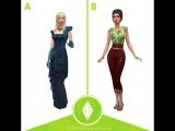 Сравнительное видео женской одежды из предыдущих наборов The Sims 4 #2