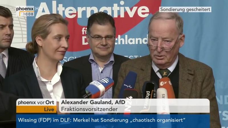 Statement der AfD zum Scheitern der Sondierungsgespräche am 20-11-17