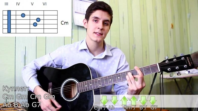 26 Как Играть на Гитаре Братья Грим - Хлопай Ресницами (Видео Урок, Разбор Песни)_ Грим- Ресницы
