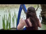 Marion Le Solliec Девушка красиво играет на арфе FAIRY TAIL - Celtic song - harp ⁄ harpe