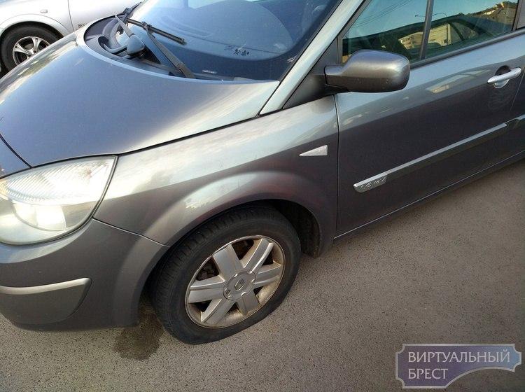Тринадцать легковых автомобилей повредил неизвестный на ул. Московской в г. Бресте