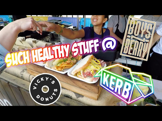 LONDON VLOG Boys'N'Berry Russian Shop KERB at Granary Square Vicky's Donuts
