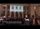 Саакашвили показал на фасаде Рады свой план спасения Украины за 70 дней