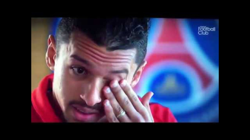 Marquinhos crying for Lucas situation at PSG vs Lyon 21 January 2018