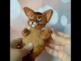 Peach- OOAK abyssinian kitten toy by NatalyTools