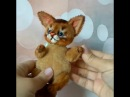 Peach- OOAK abyssinian kitten toy by NatalyTools