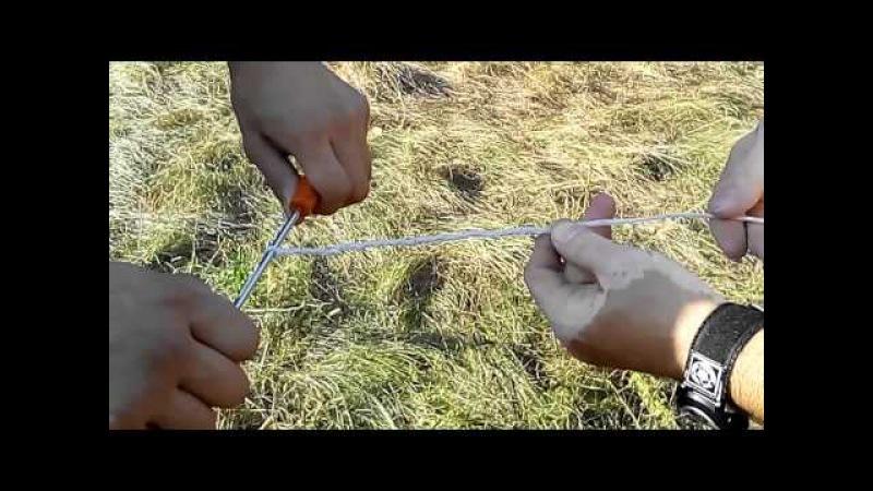 Братство кнута, плетем крекер своими руками для кнута арапника