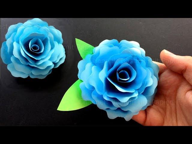 Rose basteln mit Papier - Bastelideen: DIY Geschenke selber machen - Origami Blumen falten