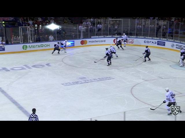 Моменты из матчей КХЛ сезона 16/17 • Опасный момент. Осала Оскар (Металлург Мг) один в один выбежал 25.08