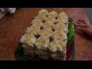 Торт из печенья Ушки с заварным кремом