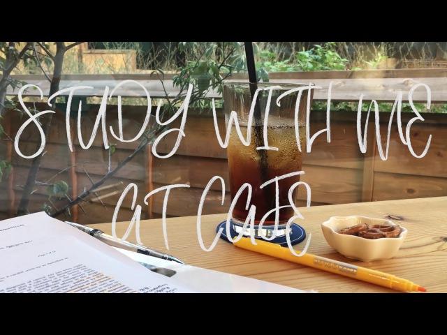 [한빈이] STUDY WITH ME AT CAFE 카페에서 같이 공부해요✏️ / 카페 백색소음 / 수의사 공부 브51